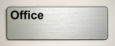 'Office' Engraved label for offices and businesses.