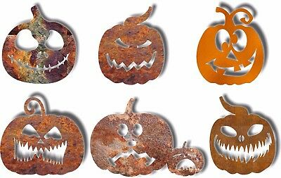 DXF CNC dxf for Plasma 6 Pumpkins Yard Art Halloween Yard Stakes Holiday Vector