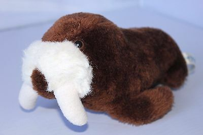 "Vintage 1982 Sea World 9"" Walrus Plush Stuffed Animal"