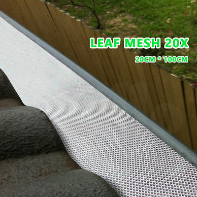 20pcs 100x20cm Gutter Guard Aluminium Leaf Mesh Protect Roof- Keep The Leafs Out