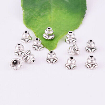 Silver Bead Caps Pagod Spacer End Bead Charm Jewelry Finding 7x6mm Wholesale