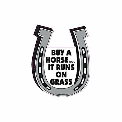 Buy A Horse It Runs On Grass Horse Horseshoe Car Magnet