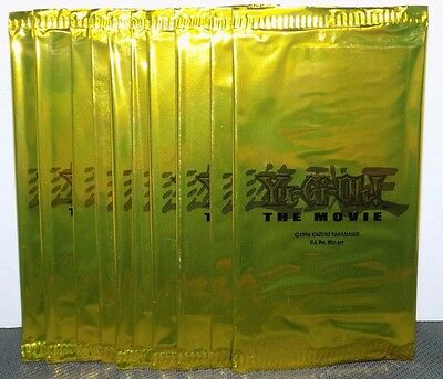 Yugioh The Movie Promo Gold Pack English Edition (10x Packs) Brand New Sealed
