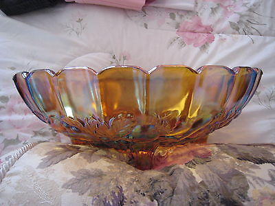 Carnival Glass Bowl - Large Marigold, Collectors Piece - Very Good Condition.