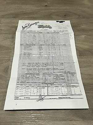 Tom Berenger Signed Major League Ii Movie Call Sheet !! One Of A Kind !! 1 Of 1