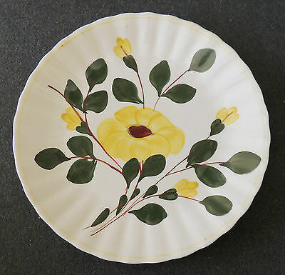Blue Ridge Southern Potteries Hand Painted Rocky Rose Sunflower Dinner Plate