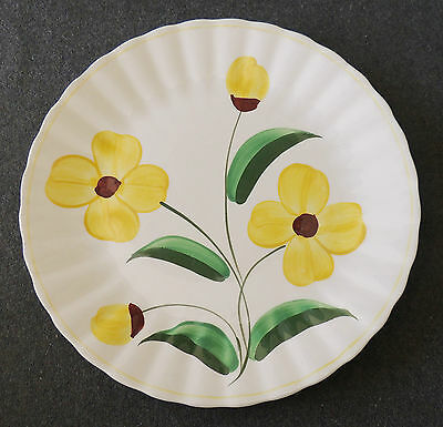Blue Ridge Southern Potteries Hand Painted Sunshine Yellow Daisy Dinner Plate