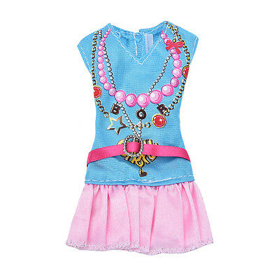Newest Doll Dress Beautiful Party Clothes Top Fashion Dress For Barbie Doll