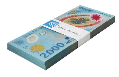 Romania 2,000 (2000) Lei X 100 Pieces (PCS), 1999, P-111a, UNC, Bundle, Pack