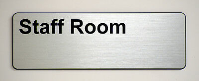'Staff Room' Engraved label for offices and businesses.