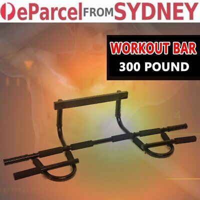Portable Chin Up Workout Bar Gym Home Door Pull Up Abs Exercise Doorway KV