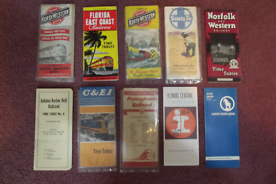 Lot of vintage railroad timetables, etc.  40's thru early 70's.. Nice