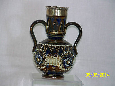 Doulton Lambeth Antique c1902 Sterling Silver By Rosina Harris Vase