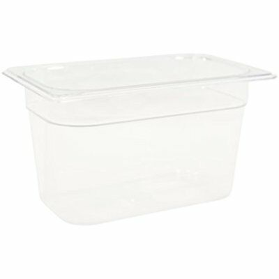 "Rubbermaid Commercial Products FG112P00CLR Cold Food Pan, 6"" Deep 1/4 Size,"