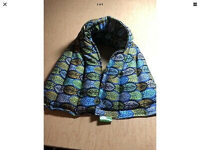 rice heat pad hotcold shoulder neck wrap pack LONG 21x6 microwave floral