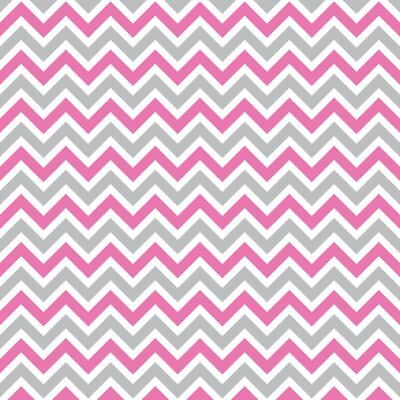Set Of 10 Personalised Pink And Grey Chevron Peel And Seal Dl Envelopes