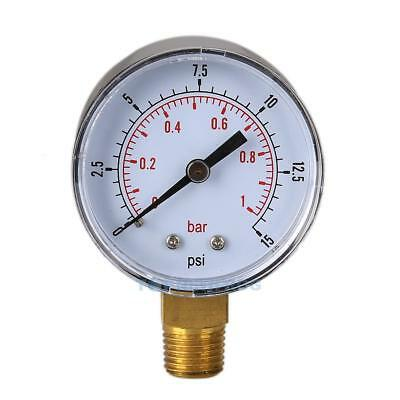 Low Pressure Gauge for Fuel Air Hydraulic 50mm 0/15 PSI 0/1 Bar 1/4 BSPT TN2F