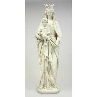 "+ Statue of The Blessed Virgin Mary + Madonna & Child + 58"" ht.+ Fiberglass +"