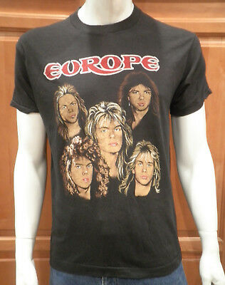 Vintage Europe The Final Countdown T Shirt Screen Stars Hipster Soft Paper Thin