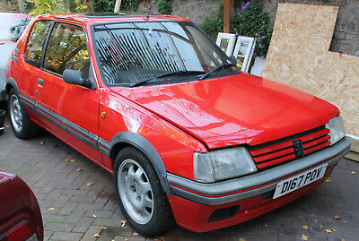 Peugeot  205 gti 1.9 Red , 1987 first generation , track day car , or restore