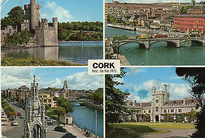 postcard Ireland Cork multiview  posted