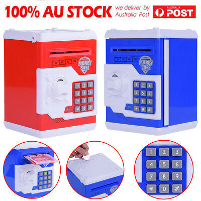 Children Electronic Money Safe Box Password Saving Bank ATM For Coins and Bills
