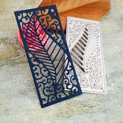 Leaf Frame Cutting Dies Stencil Scrapbook Embossing Album Paper Card Craft DIY