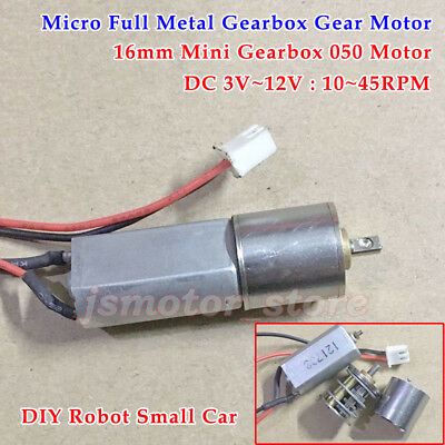 DC3V~12V 10RPM-45RPM Micro Metal Gearbox 050 Gear Motor Slow Speed For Robot Car