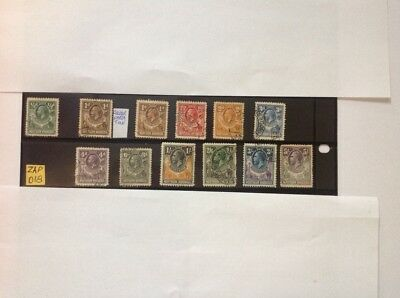 northern rhodesia 1925 part set x 12 stamps used