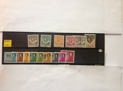 northern rhodesia QE11 x 16 stamps used