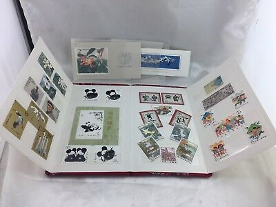 VINTAGE CHINA S.T.O STAMP SET MINT STAMPS IN BOOK  1970s-1980s  Dec Estate!