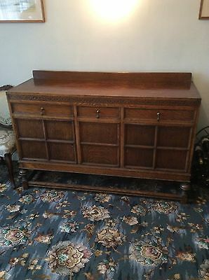 oak veneered edwardian sideboard in the Jacobean style