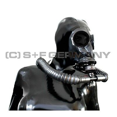 Gas Mask 7 Parts Fetish System Latex Hood For Gloves Catsuit Corset - Sale Offer