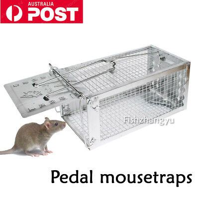NEW Rat Trap Cage Small Live Animal Pest Rodent Mouse Control Bait Catch  AU