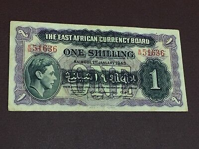 British East Africa 1 Shillings 1943