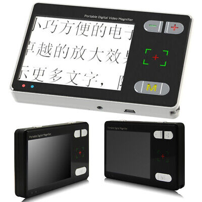 New 2X-24X Low Vision Reading 3.5'' LCD Portable Digital Viewing Video Magnifier