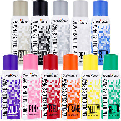 Chefmaster Edible Food Colour Spray 42g (1.5 oz) - range of colours