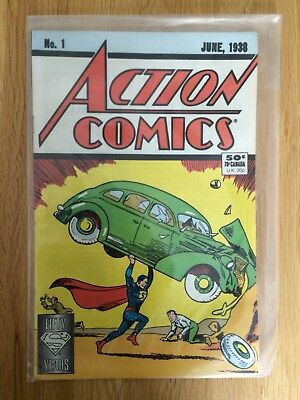 Action Comics No 1 1988 50 Year Reprint 1st Superman RARE