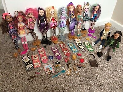 Ever After High Bundle, excellent Condition 12 Dolls In Total Plus Accessories