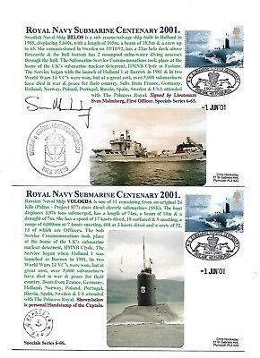 Submarine Covers - Royal Navy Centenary 2001 - Signed - Limited Edition of 500