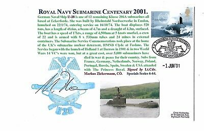 Submarine Cover - Royal Navy Centenary 2001 - Signed - Limited Edition of 500
