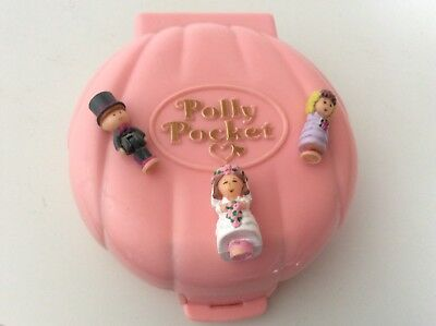 Vintage Polly Pocket 1989 NANCY'S WEDDING Bridesmaid Polly 100% Complete