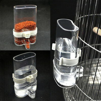 Pet Parrot Cage Hanging Bird Feeder Automatic Water Food Bottle Feeding 200ml