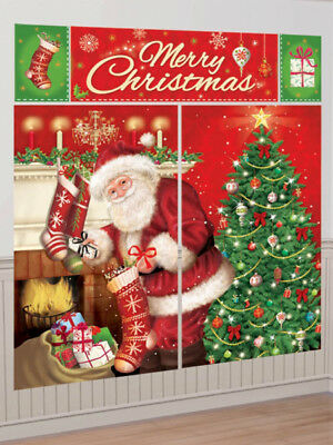 Magical Merry Christmas Father Christmas Santa Scene Setter Wall Decorating Kit