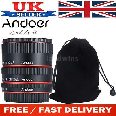 Andoer Auto Focus TTL Macro Lens Extension Tube Ring Adapter for Canon EF N7H1