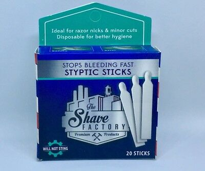 The Shave Factory Styptic Sticks - Stop Bleeding Fast