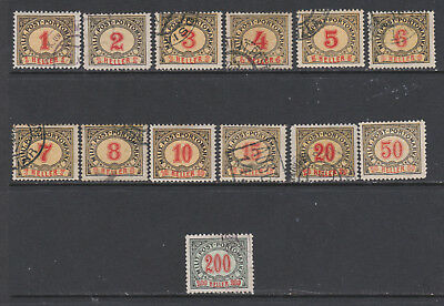 Bosnia & Herzegovina - 1904 - N383/86 - Postage Dues -  set of 13-  2 MH  11used