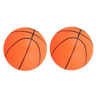2x Kids Mini Inflatable Basketball Outdoor Sports Toys for Children Orange