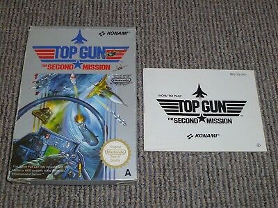 Nintendo Nes - Top Gun The Second Mission - Box And Instructions Only