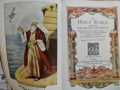 Holy Bible 1910  illustrated  Eyre & Spottiswoode